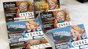 Boletos de lotería de la Grossa de Cap d'Any del 2019.