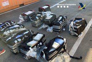 Imagen de otro alijo de 500 kilos de cocaína incautada en el puerto de Barcelona.