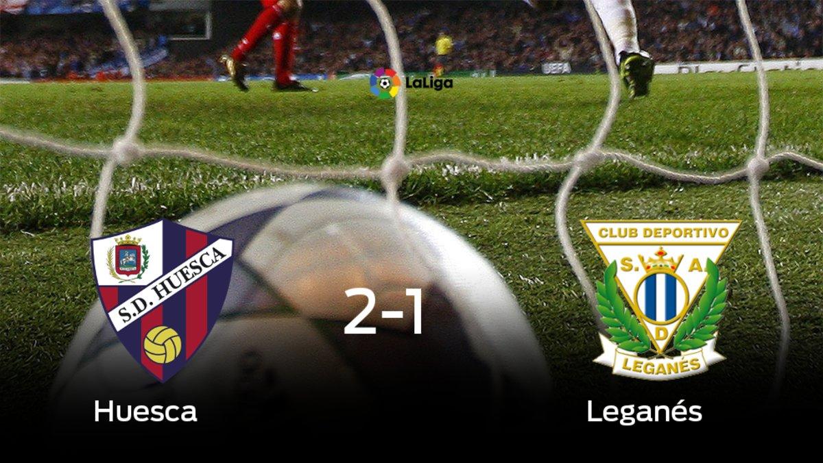 El Huesca vence 2-1 al Leganés en El Alcoraz