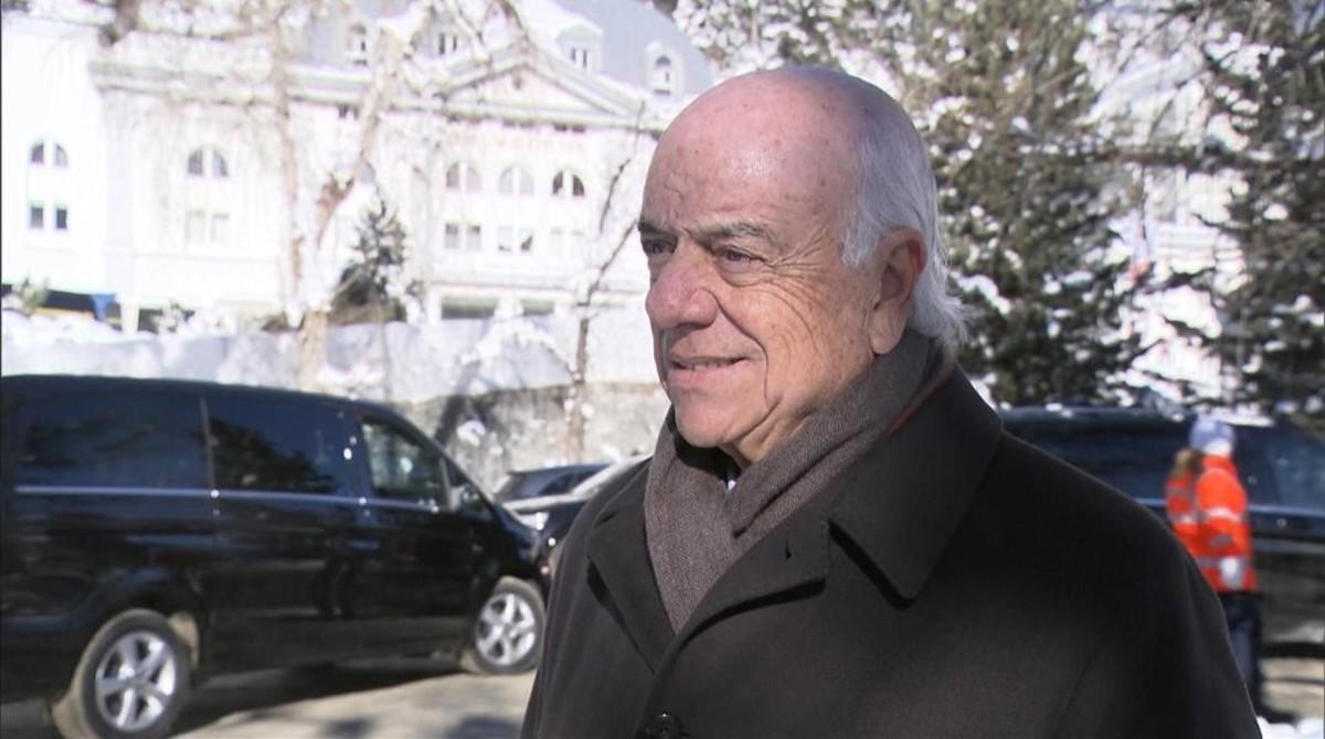 Francisco González, presidente del BBVA, en Davos.