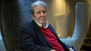 El editor Jorge Herralde, este martes en un céntrico hotel de Barcelona.