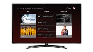 Smart TV con la aplicación de Vodafone TV.