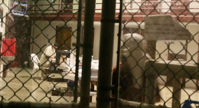 Interior de una zona común del penal de Guantánamo.