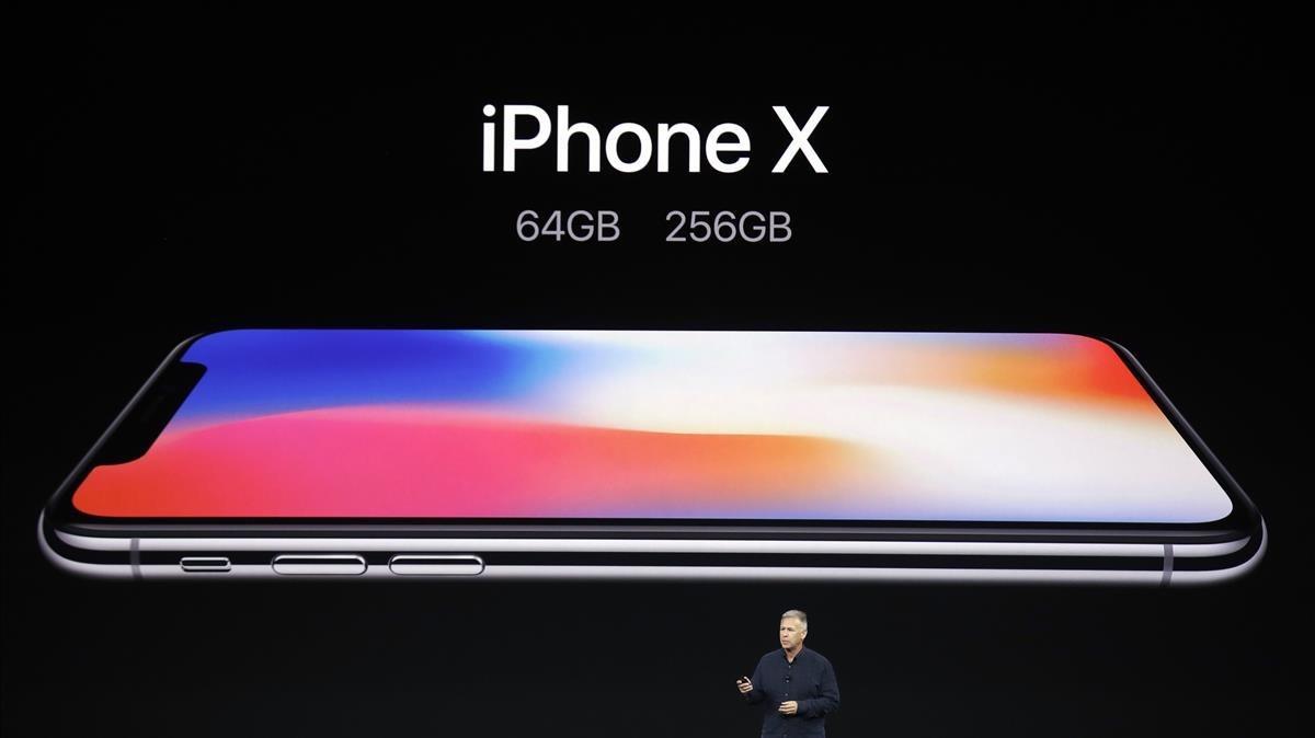 Presentación oficial del último modelo del Iphone X, teléfono móvil de Apple.