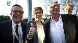 Els conservadors de Merkel derroten l'efecte Schulz' al Saarland