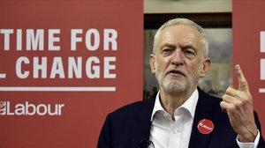 Jeremy Corbyn, este jueves en Birmingham.