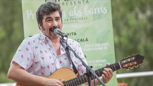 Pantanito durante su actuación en el Casal Ciutat Cooperativa Molí Nou de Sant Boi.