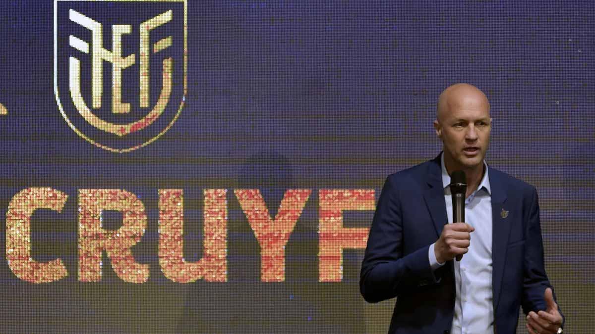 Jordi Cruyff, nuevo seleccionador de fútbol de Ecuador.