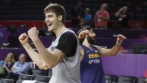 Juancho Hernagómez, en una imagen con la selección en el Eurobasket 2017 de Turquía