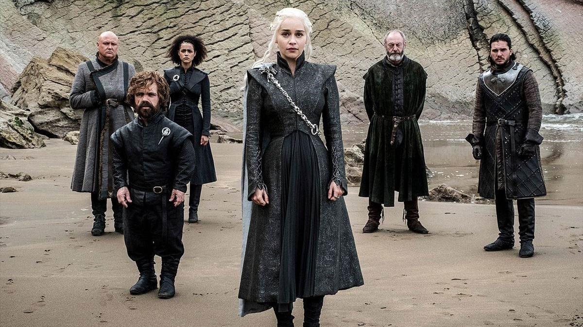La actriz Emilia Clarke en 'Juego de Tronos'.