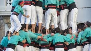Los Castellers de Vilafranca, en una imagen de archivo.