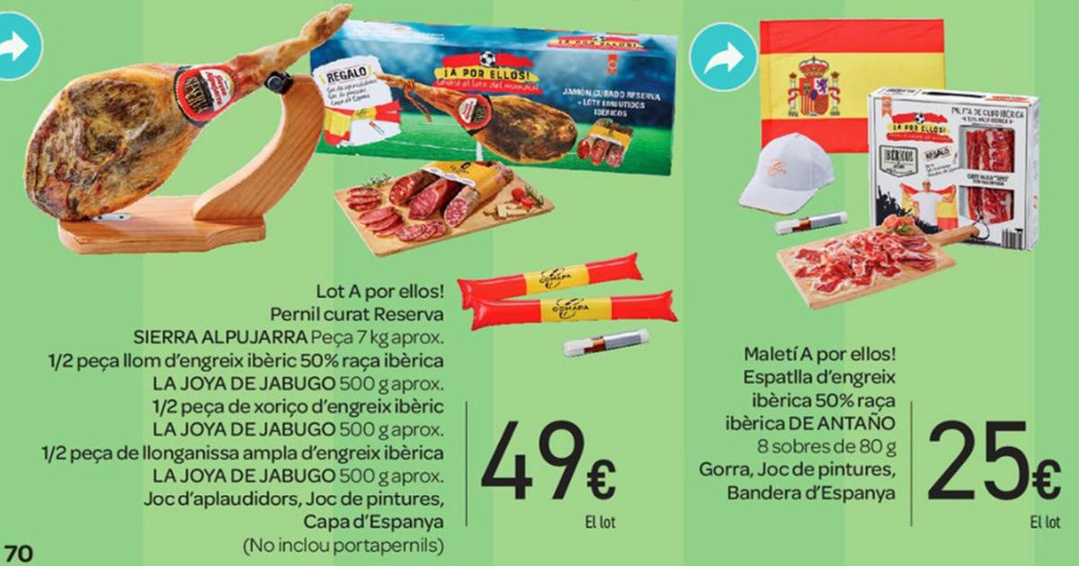 Detalle de los dos lotes A por ellos! de Carrefour.