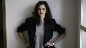 La realizadora Caroline Deruas, este sábado, en Barcelona.