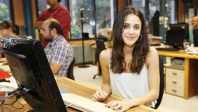 Macarena García, durante el encuentro digital en la redacción de EL PERIÓDICO.