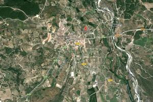 Mapa de la zona en la que se ha producido el accidente, en el término municipal de Madrigal de la Vera.