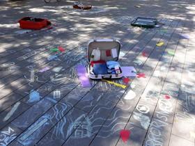 Maletas decoradas por los niños y niñas de Sant Boi para conmemorar el Día Mundial de las Personas Refugiadas