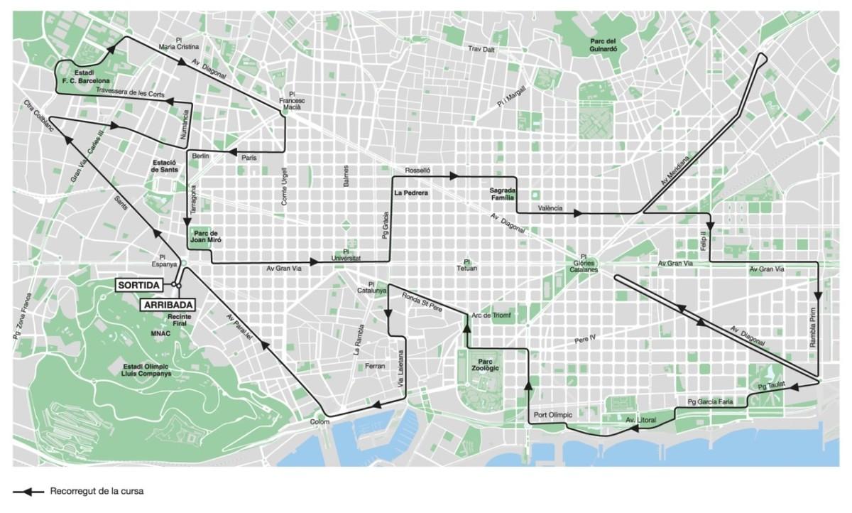 El maratón de Barcelona alterará este domingo 60 líneas de bus