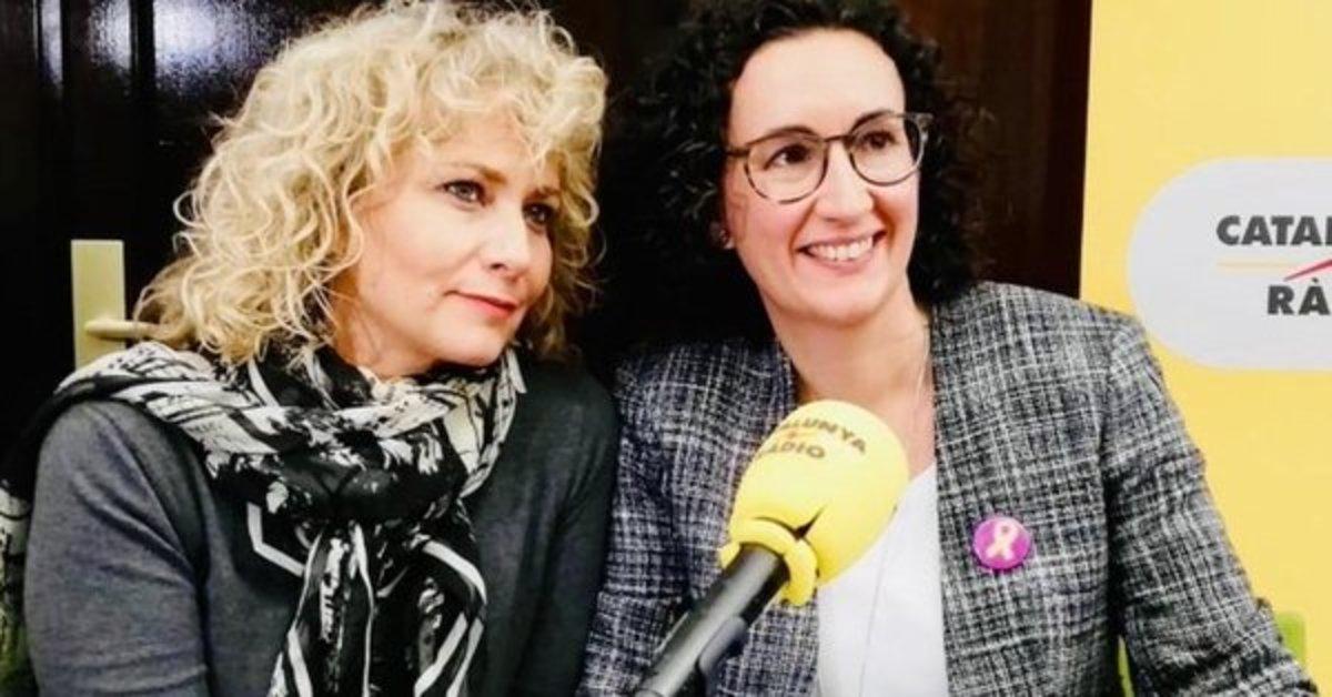 Marta Rovira y Mònica Terribas, durante su entrevista en Ginebra.
