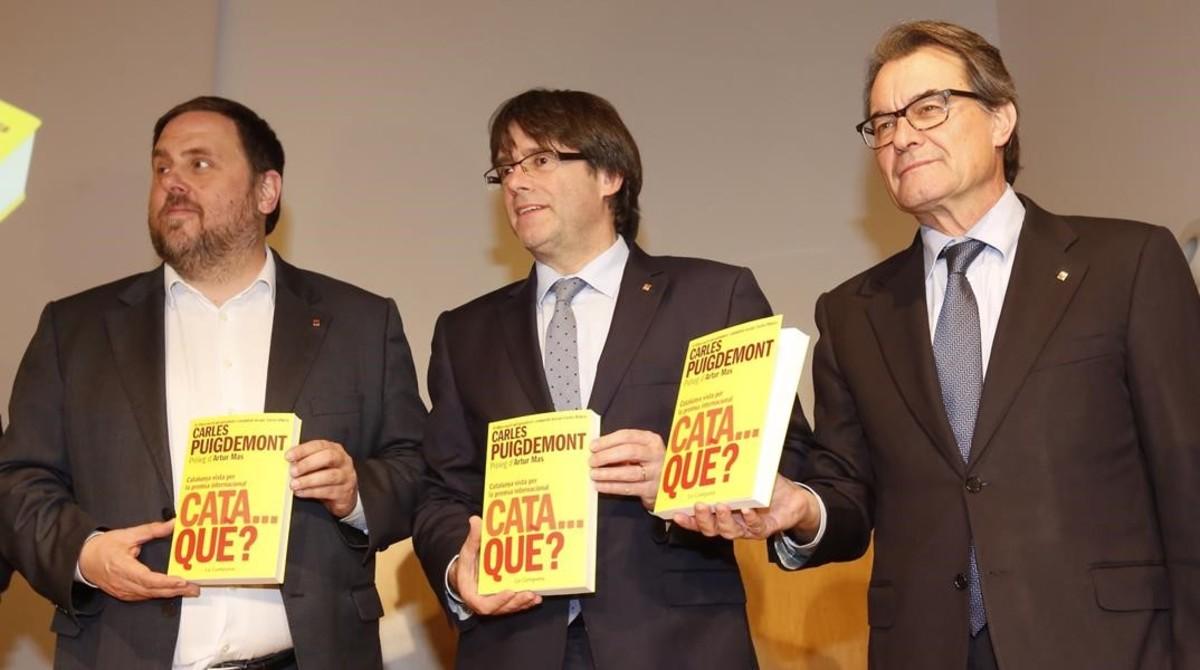 Puigdemont y Junqueras pugnarán por el liderazgo del independentismo el 21-D