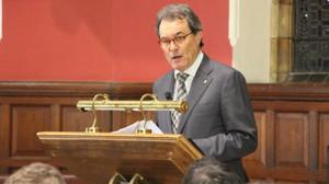 Artur Mas, durante su conferencia en Oxford, el 1 de marzo.
