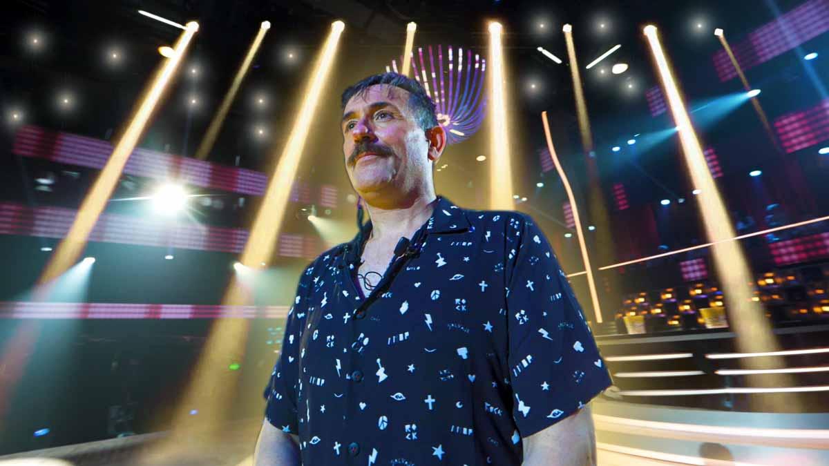 Mateo Vergara, en un plató de televisión.