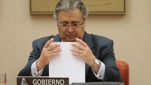 El ministro del Interior, Juan Ignacio Zoido, en una imagen de enero, enel Congreso.
