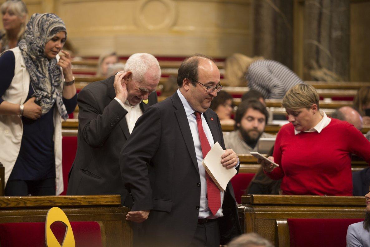 Miquel Iceta, en el Parlament, el pasado 5 de mayo.