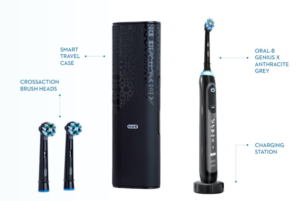 Cepillo con inteligencia artificial de Oral-B.