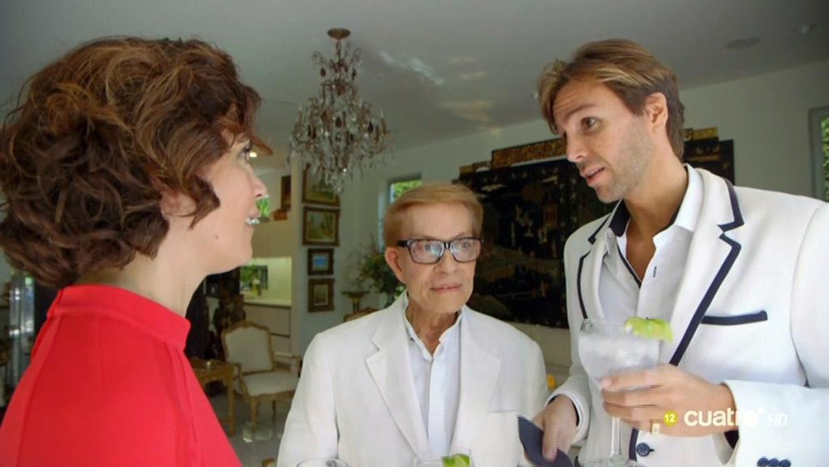 Samanta Villar, con Erik Putzbach y Rafael de Marchena, en Cuatro.