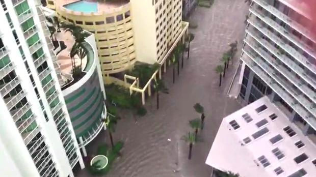 El paso del Huracán Irma por Miami