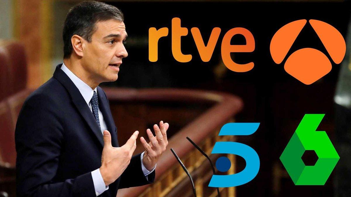 Así será la cobertura de TVE, laSexta, Antena 3 y Mediaset para la sesión de investidura de Pedro Sánchez