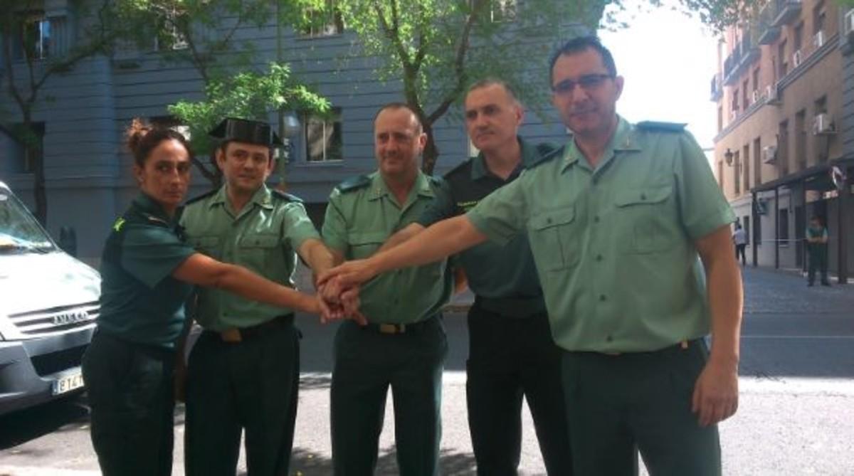 Pilar Villacorta, con otros miembros de la JDN de AUGC.