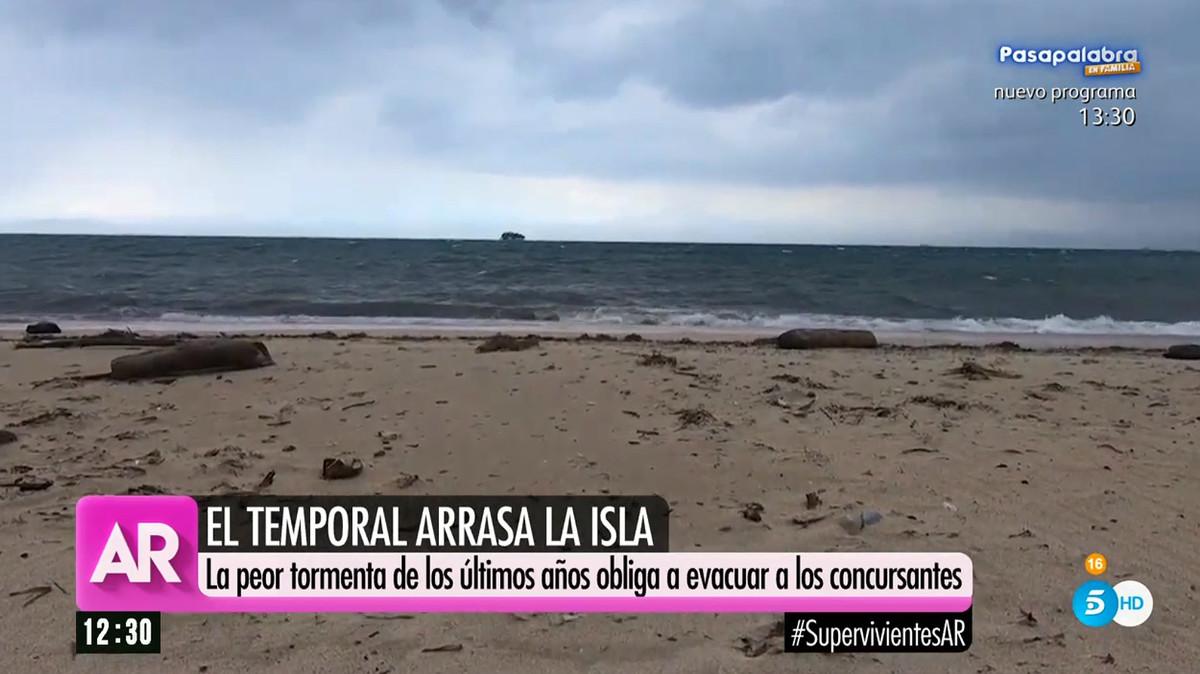 Playa de Cayos Cochinos, durante el inicio del temporal, en El programa de Ana Rosa.