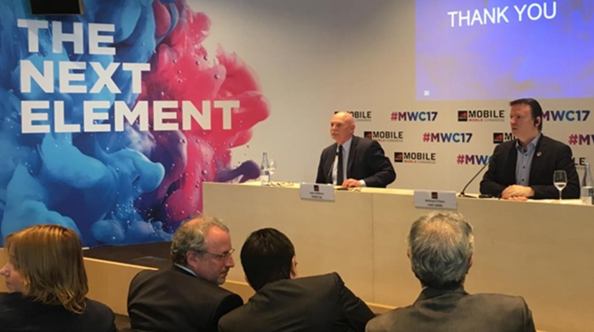 Presentación del Mobile World Congress 2017 en Barcelona.