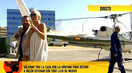 La princesa torna en helicòpter