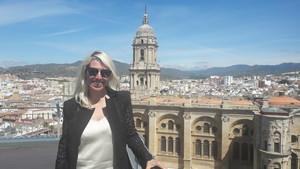 La productora de cine María Luisa Gutiérrez, en el festival de Málaga.