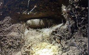 Proyectil encontrado en el Parque Forestal de Vicálvaro.