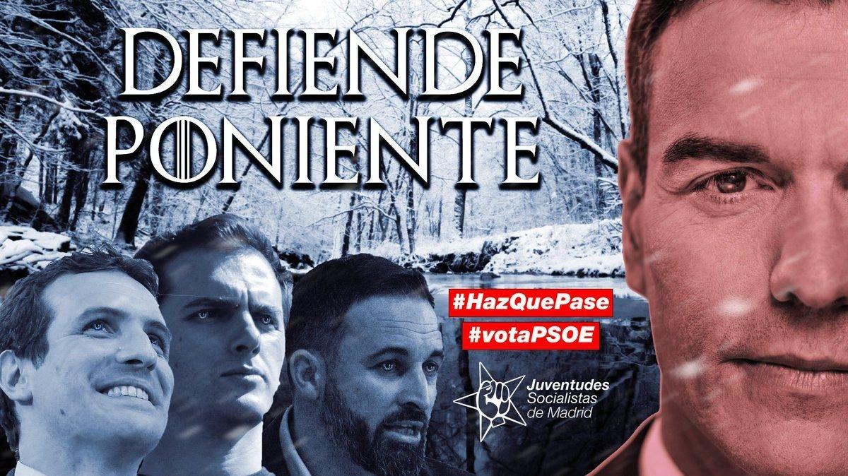 El PSOE i el PP s'aprofiten de l'estrena de 'Joc de trons'