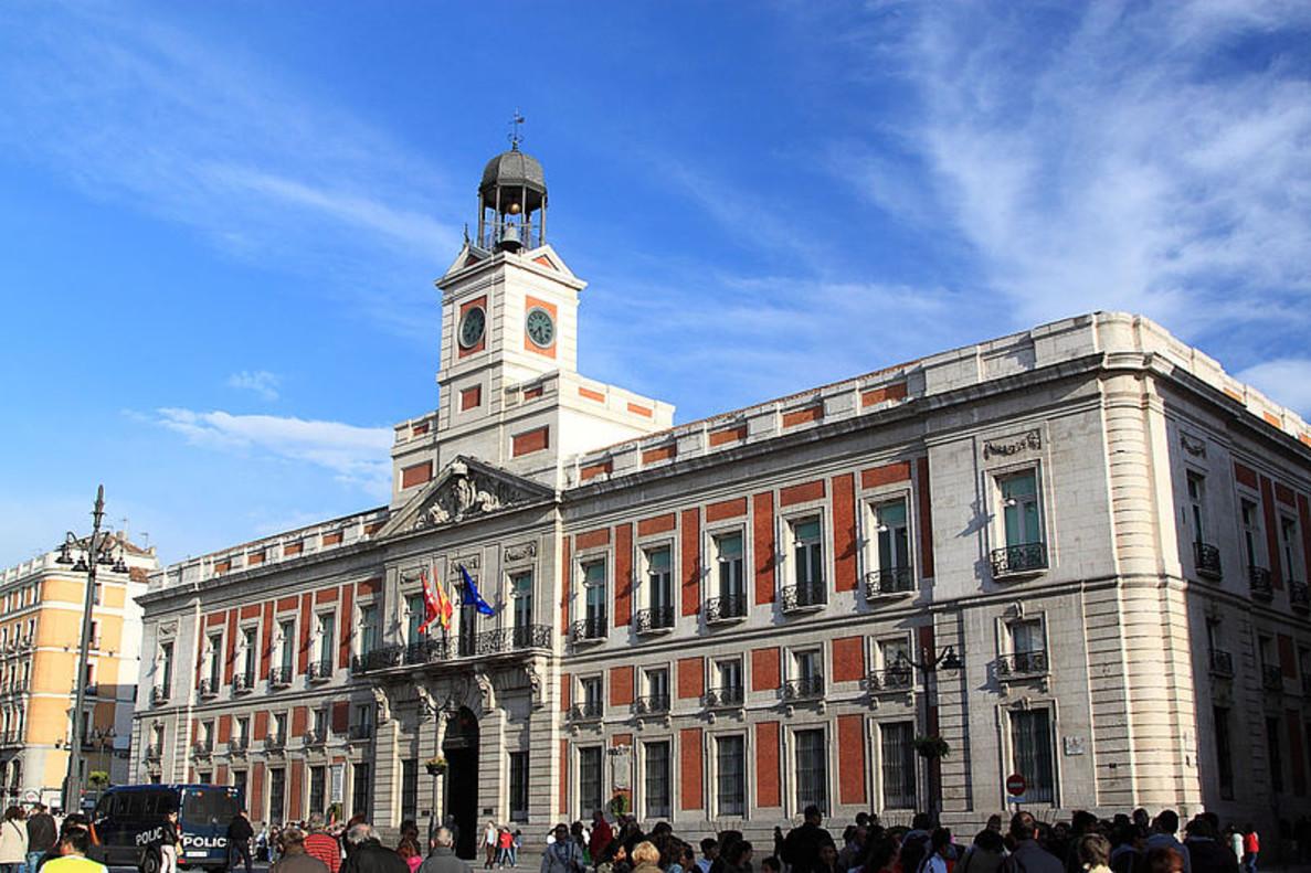 La Real Casa de Correos, en la Puerta del Sol de Madrid.