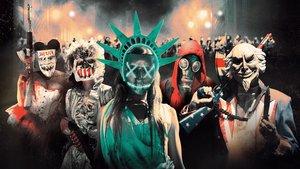 Escena de The purge, la serie utilizada como pretexto para los disturbios.