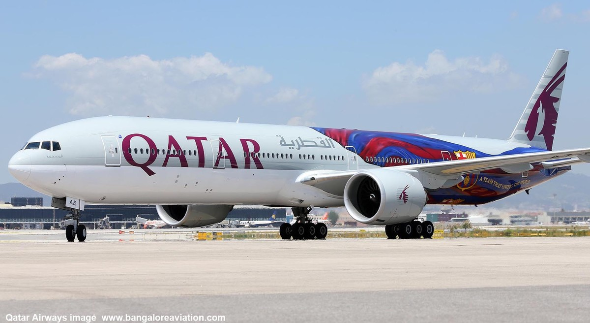 Un avión de Qatar Airways.