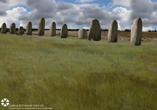Reconstrucció feta amb ordinador del nou Stonehenge.