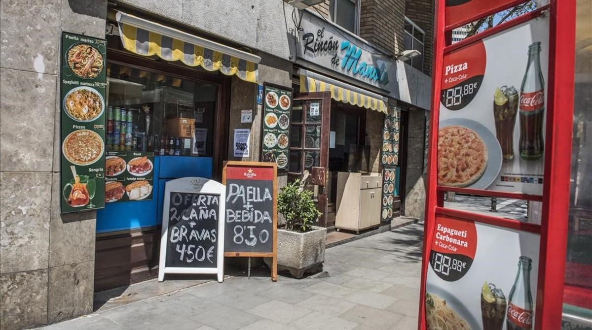El rincón de Manolo, considerado por TripAdvisor como uno de los peores restaurantes de Barcelona.