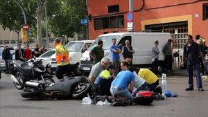 La meitat dels morts en accidents de trànsit a Barcelona són motoristes