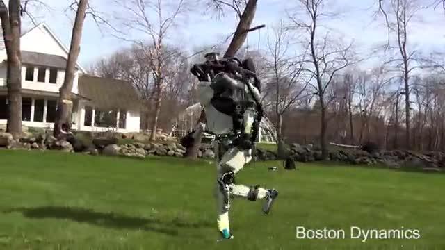 El robot humanoide de Boston Dynamics echa a correr