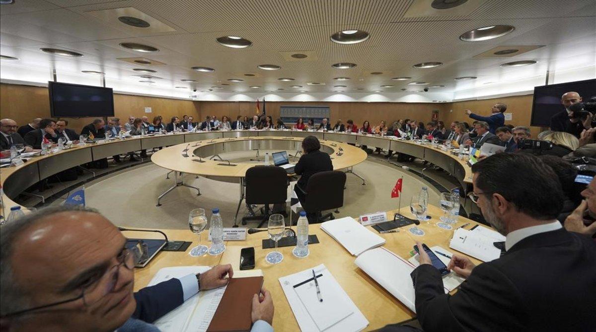 Reunión del Consejo de Política Fiscal y Financiera, presidido por las ministras de Hacienda y de Administraciones Territoriales.