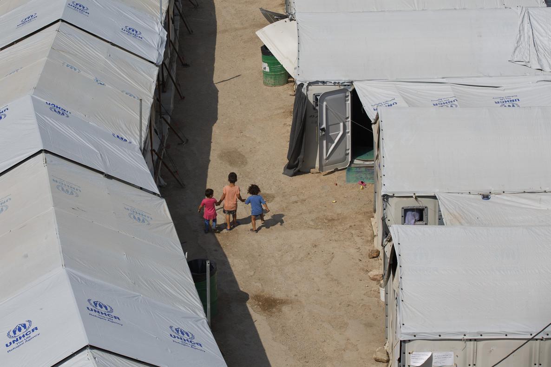 Campo de refugiados de Souda, en la isla griega de Chios.