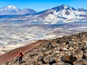 Sergi Mingote en su última expedición en Chile, donde ha coronado cuatro volcanes en siete días