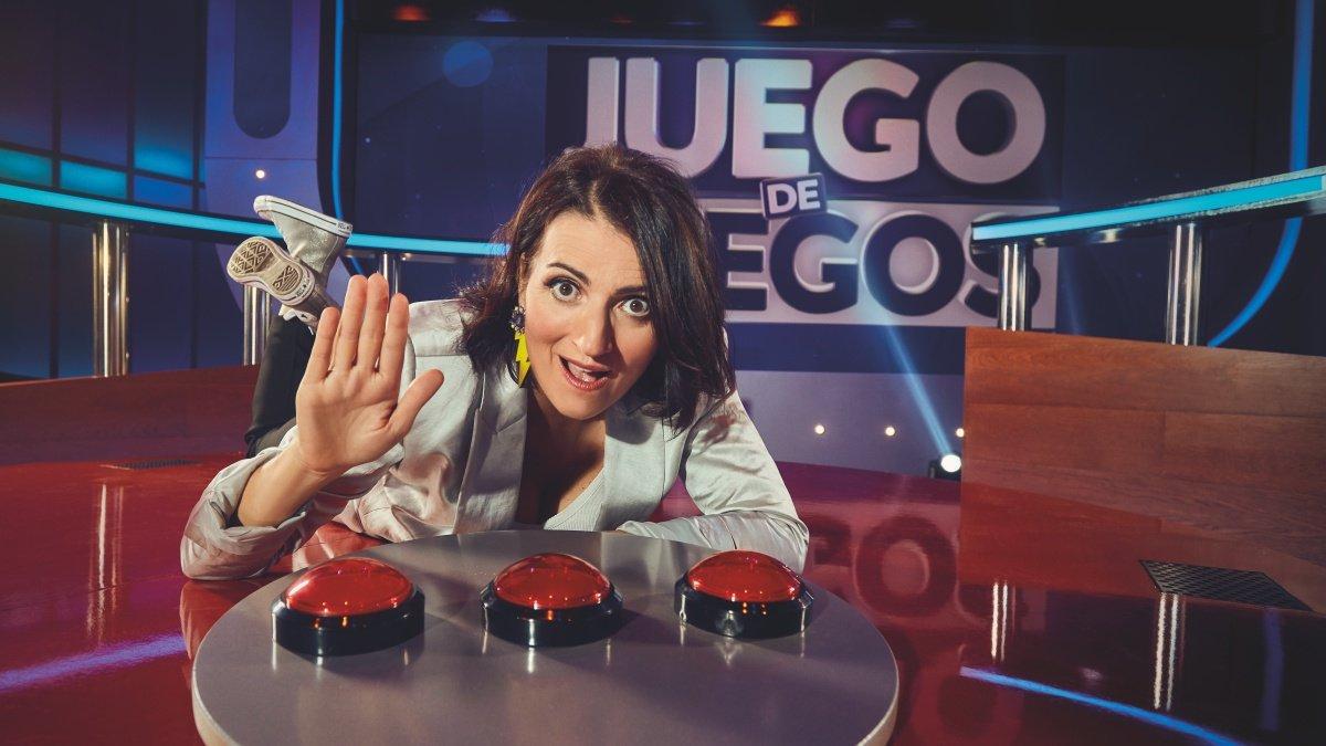 Silvia Abril en el plató de 'Juego de Juegos'.