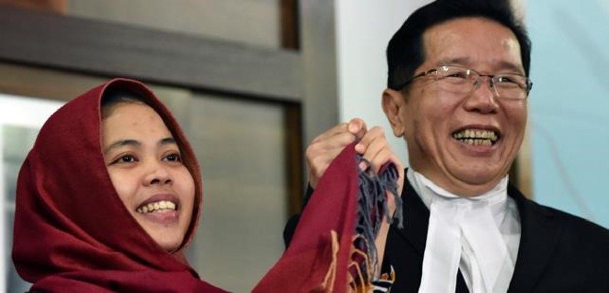 Siti Aisyah, liberada tras quedar libre de cargos por matar al hermanastro de Kim Jong-un.